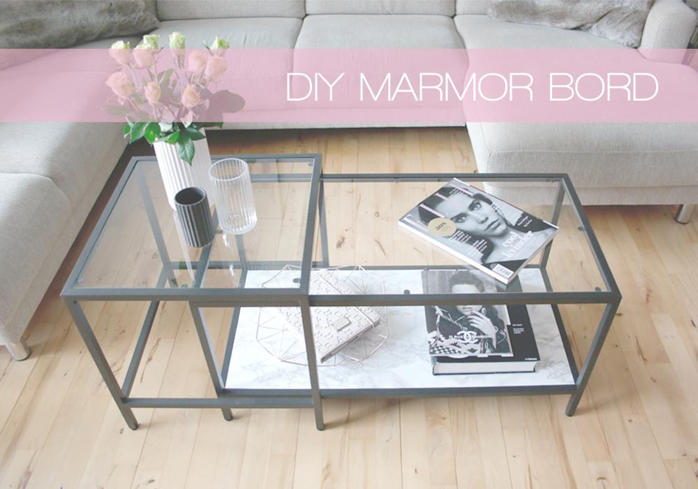 INTERIOR DESIGN - DIY MARBLE TABLE